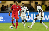 WASHINGTON, D.C. - OCTOBER 11: Weston McKennie #8 of the United States moves with the ball during their Nations League game versus Cuba at Audi Field, on October 11, 2019 in Washington D.C.