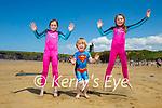Jumping for joy on Ballybunion beach on Sunday, l to r: Freya, Liam and Abby Nolan from Ballybunion.