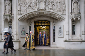 Lady Hale of Richmond, President of the Supreme Court, and fellow judges walk from the court to Westminster Abbey, London, for a service marking the beginning of the legal year.