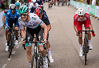 Maximilian Schachmann (DEU/BORA - hansgrohe) forcing a break up the final ascent of the Geulhemmerberg<br /> <br /> 55th Amstel Gold Race 2021 (1.UWT)<br /> 1 day race from Valkenburg to Berg en Terblijt; raced on closed circuit (NED/217km)<br /> <br /> ©kramon