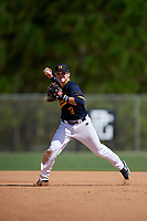 Matt Archer during the WWBA World Championship at the Roger Dean Complex on October 18, 2018 in Jupiter, Florida.  Matt Archer is a second baseman from Boca Raton, Florida who attends St. Thomas Aquinas High School and is committed to UCF.  (Mike Janes/Four Seam Images)