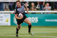Ben Hellewell of London Broncos scores his 4th try of the game to make the score 50-16 during the Kingstone Press Championship match between London Broncos and Sheffield Eagles at Castle Bar , West Ealing , England  on 9 July 2017. Photo by David Horn.