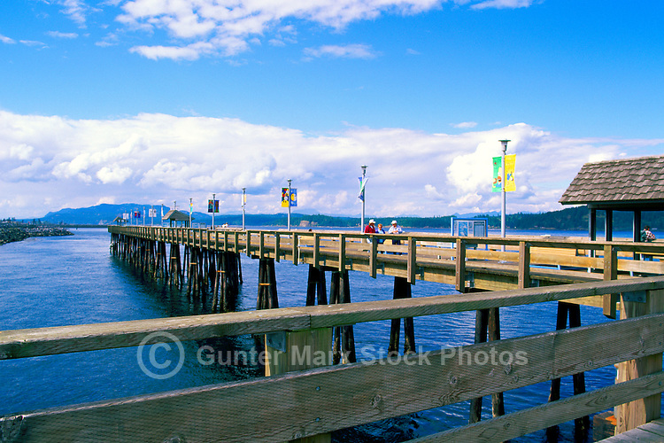 """""""Discovery Pier"""" - a Fishing Wharf, overlooking Discovery Passage, in Campbell River, Vancouver Island, British Columbia, Canada"""
