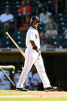 Surprise Saguaros outfielder Mallex Smith (12) during an Arizona Fall League game against the Scottsdale Scorpions on October 11, 2014 at Surprise Stadium in Surprise, Arizona.  Scottsdale defeated Surprise 7-6.  (Mike Janes/Four Seam Images)