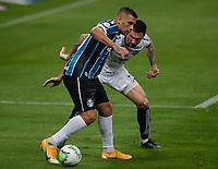 14th November 2020; Arena de Gremio, Porto Alegre, Brazil; Brazilian Serie A, Gremio versus Ceara; Diego Souza of Gremio holds off Tiago Pagnussat of Ceara