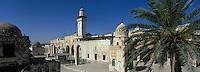 Asie/Israël/Judée/Jérusalem: la vieille ville le quartier musulman vu depuis l'espalanade du Temple