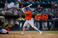 St. Lucie Mets Edgardo Fermin (2) bats during a Florida State League game against the Bradenton Barbanegras on July 27, 2019 at LECOM Park in Bradenton, Florida.  Bradenton defeated St. Lucie 3-2.  (Mike Janes/Four Seam Images)