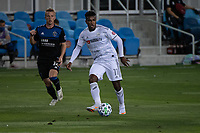 SAN JOSE, CA - NOVEMBER 04: Jose Cifuentes #11 of the Los Angeles FC passes the ball during a game between Los Angeles FC and San Jose Earthquakes at Earthquakes Stadium on November 04, 2020 in San Jose, California.