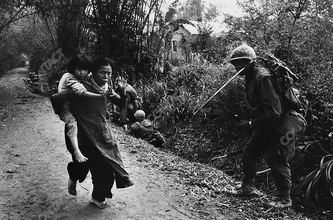 U.S. Marines and civilians, Têt offensive, Battle of Hué, Vietnam, February 1968