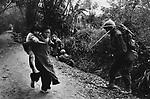 U.S. Marines and civilians, Têt offensive, Battle of Hué, Vietnam, February 1968