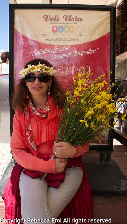 During the Ot Festivali, or Herb Festival, Alacati, Turkey