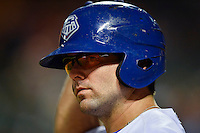 Round Rock Express catcher Brett Nicholas (19) during pacific coast league baseball game, Friday August 14, 2014 in Round Rock, Tex. Reno defeated Round Rock 6-1 to go two up in best of three series. (Mo Khursheed/TFV Media via AP Images)