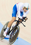 Filippo Ganna of the Italy team competes in the Men's Individual Pursuit - Qualifying as part of the 2017 UCI Track Cycling World Championships on 14 April 2017, in Hong Kong Velodrome, Hong Kong, China. Photo by Chris Wong / Power Sport Images