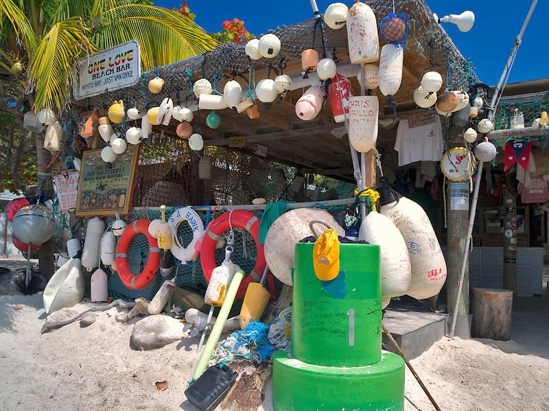 One Love Beach Bar. Jost Van Dyke. British Virgin Islands