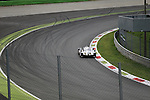 Le Mans Porsche 919 Prototype 1-Hybrid (LMP1-H) testing at Monza Autodrome rounds the Curva Parabolica during the 72nd Italian Open held in the Royal Park, Monza, Italy. 17-20th September 2015.<br /> Picture Eoin Clarke   Golffile