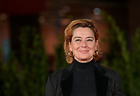 """Italian actress Monica Guerritore poses on the red carpet for the movie """"Vita da Carlo"""" at the 16th edition of the Rome Film Fest in Rome, on October 22, 2021.<br /> UPDATE IMAGES PRESS/Isabella Bonotto"""