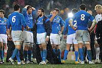 """Delusione Italia Dejection.Roma 11/20/2012 Stadio """"Olimpico"""".Rugby 6 Nations Tournament - Torneo delle 6 Nazioni 2012.Italia Vs Inghilterra - Italy Vs England .Foto Insidefoto Andrea Staccioli"""