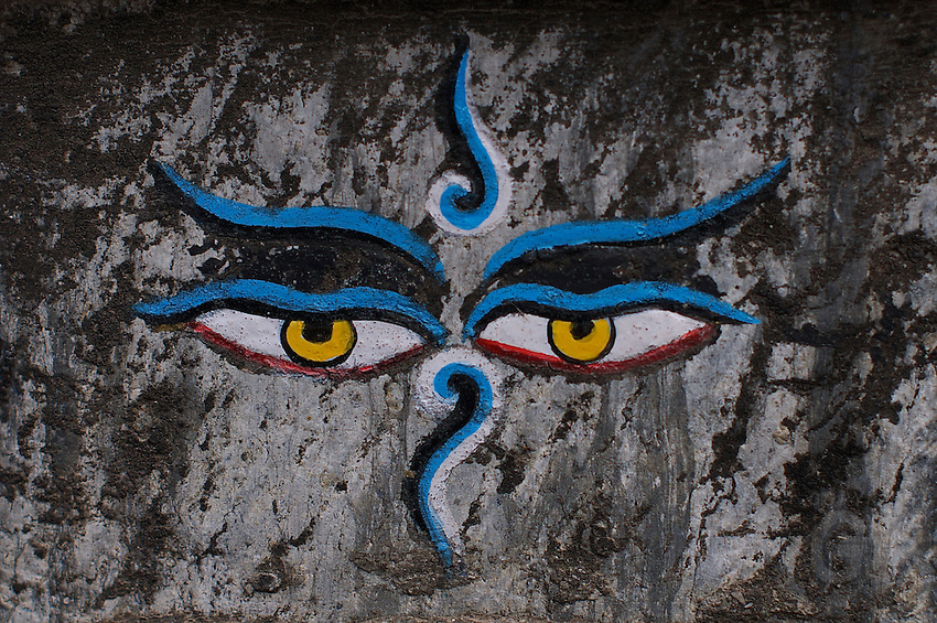 Eyes of Buddha Durbar Square and old Town Area