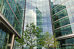 Glass-building at the River Thames, near Tooley Street and Potter`s Fields, London, England, United Kingdom, Great Britain
