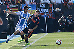 CD Leganes's Oscar Rodriguez and Valencia CF' Jose Gaya during La Liga match, Round 25 between CD Leganes and Valencia CF at Butarque Stadium in Leganes, Spain. February 24, 2019. (ALTERPHOTOS/A. Perez Meca)