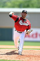 Nashville Sounds pitcher Eric Marzec (26) delivers a pitch during a game against the Omaha Storm Chasers on May 20, 2014 at Herschel Greer Stadium in Nashville, Tennessee.  Omaha defeated Nashville 4-1.  (Mike Janes/Four Seam Images)