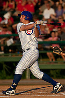 Rebel Ridling (33) of the Daytona Cubs during a game vs. the Clearwater Threshers May 8 2010 at Jackie Robinson Ballpark in Daytona Beach, Florida. Daytona won the game against Clearwater by the score of 4-1.  Photo By Scott Jontes/Four Seam Images
