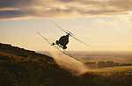Hughes 500 D Helicopter agricultural spraying in Canterbury New Zealand