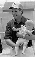 Darrell Waltrip Daughter Jessica Waltrip  Pepsi Firecracker 400 at Daytona International Speedway in Daytona Beach, FL in July 1988. (Photo by Brian Cleary/www.bcpix.com)