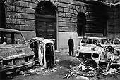 Belgrade, Serbia<br /> October 2000<br /> <br /> For the first time Belgrade residents visit the damage left behind protesters stormed the federal parliament forcing Slobodan Milosevic to admit defeat in the elections.