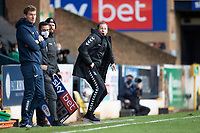 Mark Molesley, Manager, Southend United animated in the technical area during Southend United vs Exeter City, Sky Bet EFL League 2 Football at Roots Hall on 10th October 2020