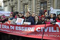 - Svegliati Italia, mobilitazione nazionale per sostenere la legge sulle unioni civili, manifestazione a Milano<br /> <br /> - Wake up Italy, national mobilization to support the law on civil unions, demonstration in Milan