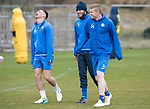 St Johnstone Training…14.04.17<br />Clive Smith, Murray Davidson and Brian Easton having fun during training at McDiarmid Park this morning ahead of tomorrow's game against Aberdeen.<br />Picture by Graeme Hart.<br />Copyright Perthshire Picture Agency<br />Tel: 01738 623350  Mobile: 07990 594431