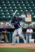 Charlotte Stone Crabs Ronaldo Hernandez (27) at bat during a Florida State League game against the Bradenton Marauders on April 10, 2019 at LECOM Park in Bradenton, Florida.  Bradenton defeated Charlotte 2-1.  (Mike Janes/Four Seam Images)