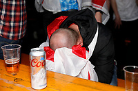 11th July 2021; London, England; 2020 European Football Championships Final England versus Italy; England fans at the Vinegar Yard looking dejected after England lose on a penalties against Italy
