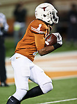Texas Longhorns wide receiver Mike Davis (1) in action during the game between the Oklahoma State Cowboys and the University of Texas in Austin Texas Longhorns at the Daryl K. Royal- Texas Memorial Stadium in Austin, Texas. The Oklahoma State Cowboys defeated the Texas Longhorns 33 to 16.