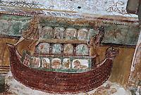 Europe/France/Poitou-Charentes/86/Vienne/Saint-Savin: Eglise romane de l'Abbaye Saint Savin sur Gartempe, fresques de la nef - Arche de Noé