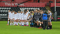 Saturday 15th February 2020 | Ospreys vs Ulster Rugby<br /> <br /> A minutes silence in respect for Garett Fitzgerald the former CEO of Munster Rugby during the PRO14 Round 11 clash between the Ospreys and Ulster Rugby at the Liberty Stadium, Swansea, Wales. Photo by John Dickson/DICKSONDIGITAL