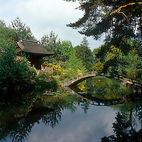 In 1910, the third Lord Egerton commissioned a Japanese garden to be built at Tatton Park, importing Japanese workmen to build the Shinto temple and its ornamental bridge
