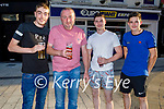 Enjoying the evening in the Crannog on Saturday, l to r: Mark and Vincent Lynch, Eoin O'Brien and Derry Barrett.
