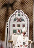Papa Francesco celebra una messa nella solennita' della Dedicazione della Basilica di San Giovanni in Laterano, Roma, 9 novembre 2015.<br /> Pope Francis celebrates a mass for the <br /> Solemnity of the Dedication in St. John Lateran Basilica, Rome, 9 November 2015.<br /> UPDATE IMAGES PRESS/Riccardo De Luca<br /> <br /> STRICTLY ONLY FOR EDITORIAL USE