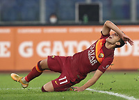 Football, Serie A: AS Roma - Cagliari calcio, Olympic stadium, Rome, December 23, 2020. <br /> Roma's Pedro reacts during the Italian Serie A football match between Roma and Cagliari at Rome's Olympic stadium, on December 23, 2020.  <br /> UPDATE IMAGES PRESS/Isabella Bonotto