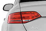 Tail light close up detail view of a 2011 Audi A4 Sedan