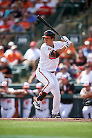Baltimore Orioles left fielder Hyun Soo Kim (25) at bat during a Spring Training exhibition game against the Dominican Republic on March 7, 2017 at Ed Smith Stadium in Sarasota, Florida.  Baltimore defeated the Dominican Republic 5-4.  (Mike Janes/Four Seam Images)
