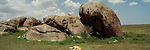 Kopjes, outcroppings of rock on the Serengeti grasslands of Tanzania, are an ideal shelter and look-out for lions.