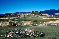 Zapotec  ancient ruins of Monte Alban in the State Oaxaca , Mexico