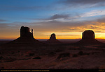 West and East Mittens and Merrick Butte at Dawn, Monument Valley Navajo Tribal Park, Navajo Nation Reservation, Utah/Arizona Border