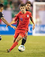 CHICAGO, IL - JULY 7: Christian Pulisic #10 during a game between Mexico and USMNT at Soldiers Field on July 7, 2019 in Chicago, Illinois.