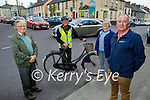 Residents of Tarbert concerned about the dangerous junction in Tarbert without any road crossings on Sunday. L to r: Patrick Lynch and Micheal Lanigan of the Tarbert Development Association, Joan Lynch (Tarbert Tidy Towns) and Councillor Michael Foley.