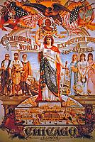 Vintage print of Columbian World Exposition 1893, Chicago, Illinois.