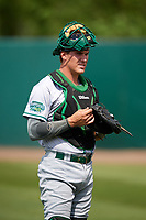 Daytona Tortugas catcher Tyler Stephenson (30) during warmups before a game against the Florida Fire Frogs on April 7, 2018 at Osceola County Stadium in Kissimmee, Florida.  Daytona defeated Florida 4-3 in a six inning rain shortened game.  (Mike Janes/Four Seam Images)